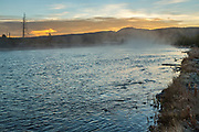 Madison River at dawn in Yellowstone National Park