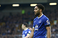 Ashley Williams of Everton looks on. Premier league match, Everton v West Bromwich Albion at Goodison Park in Liverpool, Merseyside on Saturday 11th March 2017.<br /> pic by Chris Stading, Andrew Orchard sports photography.