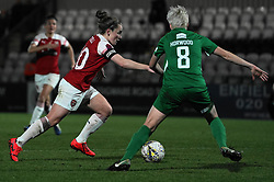February 20, 2019 - Borehamwood, Hertfordshire, United Kingdom - Kim Little (Captain) of Arsenal scores the first goal of the match  during the FA Women's Super League football match between Arsenal Women and Yeovil Town L.F.C.at Meadow Park on February 20, 2019 in Borehamwood, England. (Credit Image: © Action Foto Sport/NurPhoto via ZUMA Press)