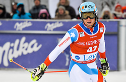 13.11.2016, Black Race Course, Levi, FIN, FIS Weltcup Ski Alpin, Levi, Slalom, Herren, 2. Lauf, im Bild Reto Schmidiger (SUI) // Reto Schmidiger of Switzerland  reacts after his 2nd run of mens Slalom of FIS ski alpine world cup at the Black Race Course in Levi, Finland on 2016/11/13. EXPA Pictures © 2016, PhotoCredit: EXPA/ Nisse Schmidt<br /> <br /> *****ATTENTION - OUT of SWE*****