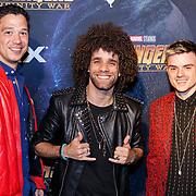 NLD/Amsterdam/20180425 - Première The Avengers: Infinity War, Inan Erka, Jermaine Fleur en Dioni Jurado-Gomez