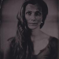 Zenaida Yanowsky, principal at the Royal Ballet, Royal Opera House, London. Wetplate, collodion, tintype portrait.