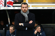 Fulham Manager Slavisa Jokanovic watches on. EFL Skybet championship match, Fulham v Barnsley at Craven Cottage in London on Saturday 23rd December 2017<br /> pic by Steffan Bowen, Andrew Orchard sports photography.