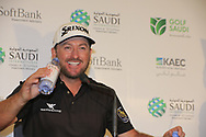 Graeme McDowell (NIR) speaking to media after the final round of  the Saudi International powered by Softbank Investment Advisers, Royal Greens G&CC, King Abdullah Economic City,  Saudi Arabia. 03/02/2020<br /> Picture: Golffile   Fran Caffrey<br /> <br /> <br /> All photo usage must carry mandatory copyright credit (© Golffile   Fran Caffrey)