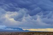 Mammatus clouds after Sunrise, Ash Meadows National Wildlife Refuge, Nye County, Nevada