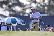 Keith Mitchell (USA) on the 1st tee during the 1st round at the The Masters , Augusta National, Augusta, Georgia, USA. 11/04/2019.<br /> Picture Fran Caffrey / Golffile.ie<br /> <br /> All photo usage must carry mandatory copyright credit (© Golffile | Fran Caffrey)