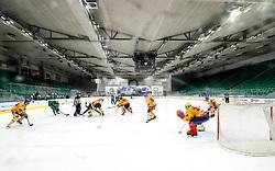 Face off during 3rd leg of ic hockey game between HK SZ Olimpija Ljubljana and Asiago Hockey in Final of Alps Hockey League 2020/21, on April 24, 2021 in Hala Tivoli, Ljubljana, Slovenia. Photo by Matic Klansek Velej / Sportida