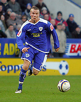 Fotball<br /> England<br /> Foto: Fotosports/Digitalsport<br /> NORWAY ONLY<br /> <br /> Leicester City FC vs Huddersfield Town FC League 1 24/01/09<br /> <br /> Leicester midfielder Tom Cleverley on his debut.