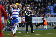 Brian McDermott, the Reading manager looks on from the touchline. Skybet football league championship match, Reading  v Blackburn Rovers at The Madejski Stadium  in Reading, Berkshire on Sunday 20th December 2015.<br /> pic by John Patrick Fletcher, Andrew Orchard sports photography.