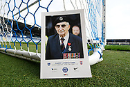 The front cover of the match day programme featuring John Jenkins MBE ahead of the EFL Sky Bet League 1 match between Portsmouth and Ipswich Town at Fratton Park, Portsmouth, England on 21 December 2019.