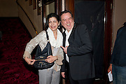 FOTINI DIMOU; RICHARD MCCABE, Yes, Prime Minister Press night re-opening at Apollo Theatre, Shaftesbury Avenue London<br /> <br /> <br />  , -DO NOT ARCHIVE-© Copyright Photograph by Dafydd Jones. 248 Clapham Rd. London SW9 0PZ. Tel 0207 820 0771. www.dafjones.com.