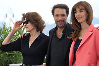 Fanny Ardant, Doria Tillier and director Nicolas Bedos at La Belle Epoque film photo call at the 72nd Cannes Film Festival, Tuesday 21st May 2019, Cannes, France. Photo credit: Doreen Kennedy