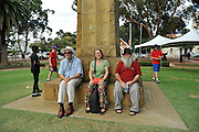 Ceremony to rededicate Stirling Memorial Gates. Guildford, Perth, Western Australia