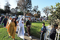 The Posadas Navideñas procession approaches a home at Acosta Plaza on Thursday in Salinas. The event recreates the search of Mary and Joseph for shelter during their journey from Nazareth to Bethlehem.
