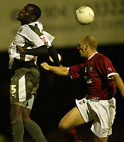 Photo: Aidan Ellis.<br /> York City v Bristol City. The FA Cup. 11/11/2006.<br /> Bristol's Enoch Showunmi wins a header