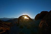 Sunrise Starburst Through Mobius Arch in the Alabama Hills near Lone Pine, California. Image taken with a Nikon D3x and 14-24 mm f/2.8 lens (ISO 100, 24 mm, f/22, 1/60 sec) processed using Capture One Pro 6.