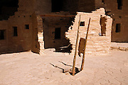Kiva and ladder at Spruce Tree House Ruin, Mesa Verde National Park, Colorado