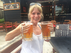 DAILY MIRROR Collect: Peter Crouch's wife Lynne on holiday. He is battling with officials from the Dominican Republic for the return of his late wife's complete body after she passed away whilst on holiday on the island . Loughton, Essex, July 17 2019.
