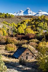 The old  hog house, on a Felt Idaho farm. Felt Idaho is in Teton Valley