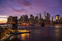 Brooklyn Bridge & Downtown NYC @ Dusk