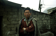 Families live close to the mines.  Their homes and lifestyles are connected to mining and to the use of coal.  Liupanshi, China