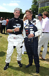 "Left to right, DAMON HILL and The EARL OF MARCH at a luncheon hosted by Cartier at the 2005 Goodwood Festival of Speed on 26th June 2005.  Cartier sponsored the ""Style Et Luxe' for vintage cars on the final day of this annual event at Goodwood House, West Sussex. <br />