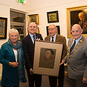 """02.11.2016                  <br /> """"Freeman's Choice"""" an exhibition by renowned artist and Freeman of Limerick, Dr. Thomas Ryan, R.H.A., was officially opened by Mayor Kieran O'Hanlon in Dooradoyle Library. Pictured at the launch were, Barbara Hartigan, Damien Brady, Limerick City and County Librarian, Dr.  Thomas Ryan, R.H.A. and Mayor of Limerick City and County Cllr. Kieran O'Hanlon. Picture: Alan Place"""