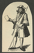 'An 18th century post-runner from Nuremberg, Germany. Engraving.'