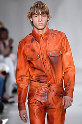 Model Camiel van Wersch walks on the runway during the Calvin Klein Fashion show at New York Fashion Week Spring Summer 2018 held in New York, NY on September 7, 2017. (Photo by Jonas Gustavsson/Sipa USA)