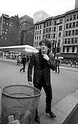 Photograph of U2 Bono on USA tour day off 1981 Chicago  USA