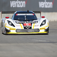 Detroit, MI - Jun 03, 2016:  The Action Express Racing Prototype Corvette DP car races through the turns at the Detroit Grand Prix at Belle Isle Park in Detroit, MI.