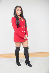 """Victoria Obahor, star of the new Channel 4 series """"Sex Tape"""",  which starts at the end of April. Pic at home in Glasgow."""