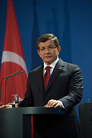 DEU, Deutschland, Germany, Berlin, 22.01.2016: Der türkische Ministerpräsident Ahmet Davutoglu im Bundeskanzleramt.