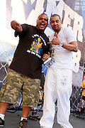 l to r: DJ Enuff and DJ Envy at The 2008 Hot 97 Summer Jam held at Giants Stadium in Rutherford, NJ on June 1, 2008...Summer Jam is the annual hip-hop fest held at Giants Stadium and sponsored by New York based radio station Hot 97FM.