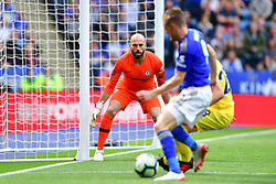 May 12, 2019 - Leicester, England, United Kingdom - Willy Caballero (13) of Chelsea keeping an eye on the ball during the Premier League match between Leicester City and Chelsea at the King Power Stadium, Leicester on Sunday 12th May 2019. (Credit Image: © Mi News/NurPhoto via ZUMA Press)