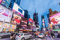 NEW YORK CITY- MARCH 24, 2018 : Times square Broadway one of the main Manhattan Landmarks