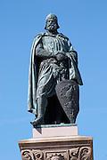 Statue of Birger Jarl (B Magnusson) on Riddarholmen. Stockholm. Sweden, Europe.