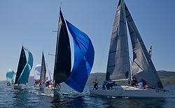 Sailing - SCOTLAND  - 28th May 2018<br /> <br /> Final days racing the Scottish Series 2018, organised by the  Clyde Cruising Club, with racing on Loch Fyne from 25th-28th May 2018<br /> <br /> RC35 Fleet, IRL3307, Jacob VII, John Stamp, Port Edgar, Corby 33, GBR9470R, Banshee, Charlie Frize, CCC, Corby 33.<br /> <br /> Credit : Marc Turner<br /> <br /> Event is supported by Helly Hansen, Luddon, Silvers Marine, Tunnocks, Hempel and Argyll & Bute Council along with Bowmore, The Botanist and The Botanist