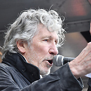 Roger Waters of Pink Floyd Protest against Julian Assange Extradition Free speech is not a Crimes, on 22th Feb 2020  in London, UK