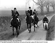 Quorn Hunt.11 November 1983. film 83813f25<br />© Copyright Photograph by Dafydd Jones<br />66 Stockwell Park Rd. London SW9 0DA<br />Tel 0171 733 0108
