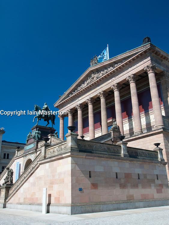 External view of Alte Nationalgalerie on Museum Island in Mitte Berlin