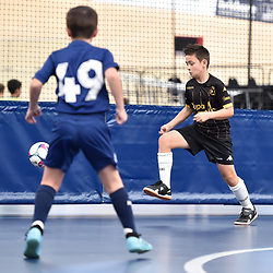 BRISBANE, AUSTRALIA - NOVEMBER 14:  during the QLD Futsal Junior Superliga match between Elitefoot u9 Black and u9 Gold Coast Force at Anna Meares Velodrome on November 14, 2020 in Brisbane, Australia. (Photo by Patrick Kearney)