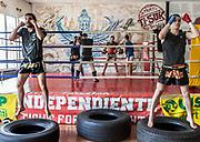 Vicenza, Palestra Indipindiente , allenamenti di box, L'istruttore Juan Carlos
