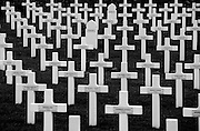Somme WW1 Battlefield, July 1st-November 1916, France. Serre-Hébuterne French Military Cemetery, Serre-les-Puisieux. February 2014<br /> Caption information <br /> Serre-Hébuterne French military cemetery was constructed between 1919 and 1923. It contains the graves and remains of French soldiers who died during fighting against the German front line at Hébuterne from 10th to 13th June 1915; a year before the main Somme Offensive of July 1916.<br /> <br /> The cemetery is the final resting place of 834 French soldiers, of whom the remains of 240 lie in an ossuary.