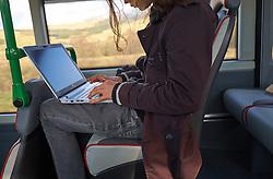 Traws Cymru bus service Wi Fi on board, Wales 2016