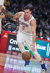 December 17, 2018 - Los Angeles, California, United States of America - Danilo Gallinari #8 of the Los Angeles Clippers with the ball during their NBA game with the Portland Trailblazers on Monday December 17, 2018 at the Staples Center in Los Angeles, California. Clippers lose to Trailblazers, 127-131. JAVIER ROJAS/PI (Credit Image: © Prensa Internacional via ZUMA Wire)
