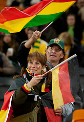 German Fan prior to the 2010 FIFA World Cup South Africa Quarter Finals football match between Uruguay and Ghana on July 02, 2010 at Soccer City Stadium in Sowetto, suburb of Johannesburg. Uruguay defeated Ghana after penalty shots. (Photo by Vid Ponikvar / Sportida)