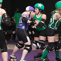 Rainy City Tender Hooligans take on Nottingham Roller Derby at The Thunderdome, King Street, Oldham, 2016-06-04