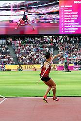 London, August 12 2017 . Keisuke Ushiro, Japan, the men's decathlon javelin on day nine of the IAAF London 2017 world Championships at the London Stadium. © Paul Davey.