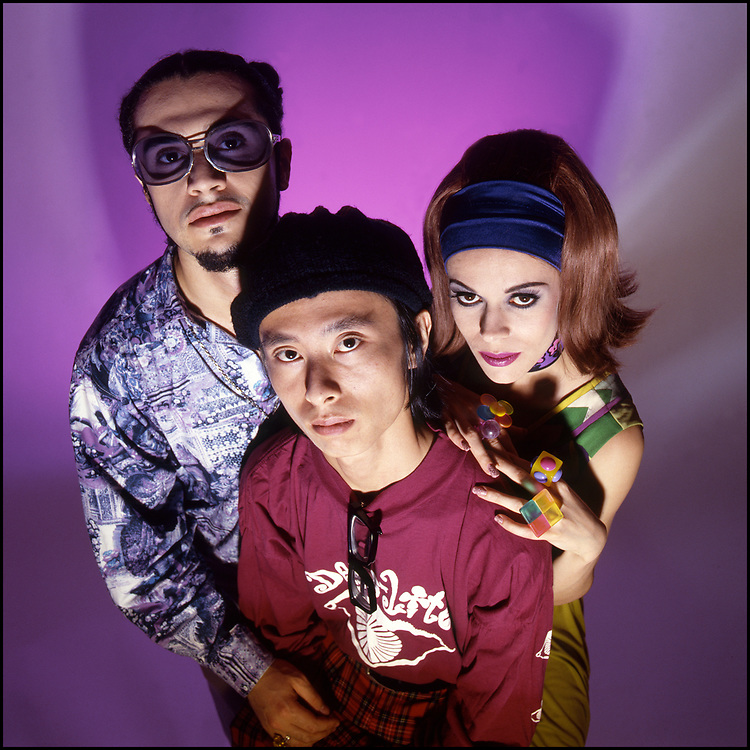 Deee-Lite photographed for the cover of Outweek Magazine in New York City in September of 1990.